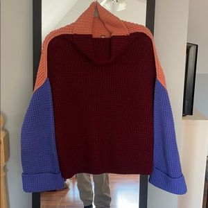 Colorblock Free People Turtleneck size S